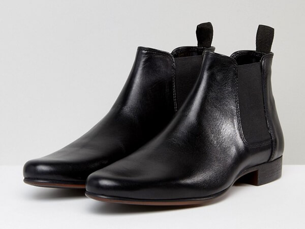 Black chelsea boots from ASOS