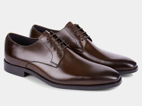 Brown derby shoes from Moss Bros