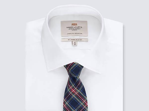 Tartan Cotton Tie from Hawes & Curtis