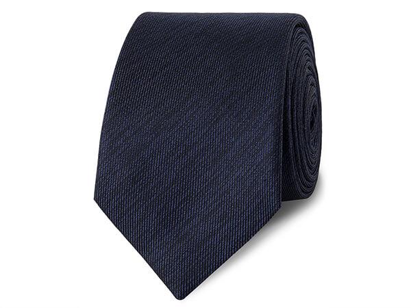 Navy Textured 100% Silk Tie from TM Lewin